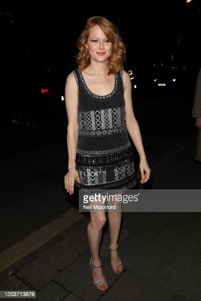 Emily Beecham attends the Vogue x Tiffany Fashion Film after party for the EE British Academy Film Awards 2020 at Annabel's on February 02 2020 in...
