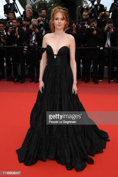 Emily Beecham departs the screening of Little Joe during the 72nd annual Cannes Film Festival on May 17 2019 in Cannes France