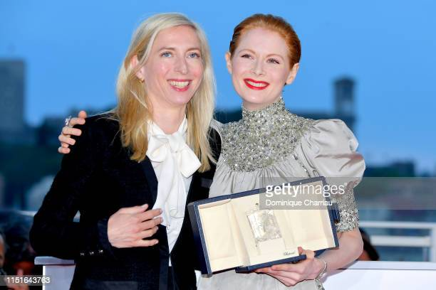 Emily Beecham winner of the Best Actress award for her role in Little Joe and Director Jessica Hausner attend thephotocall for Palme D'Or Winner...