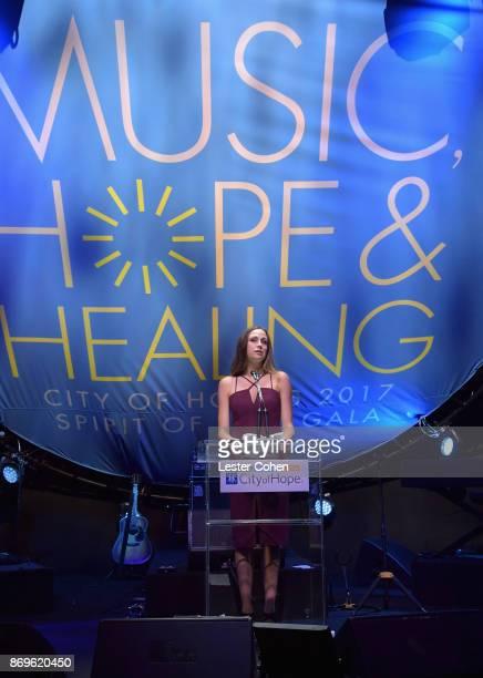 Emily Bennett Taylor at MFEI Spirit Of Life Honoring Coran Capshaw on November 2 2017 in Santa Monica California