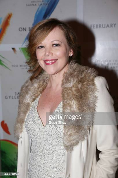 Emily Bergl poses at the opening night for Sunday in The Park With George on Broadway at The Hudson Theater on February 22 2017 in New York City