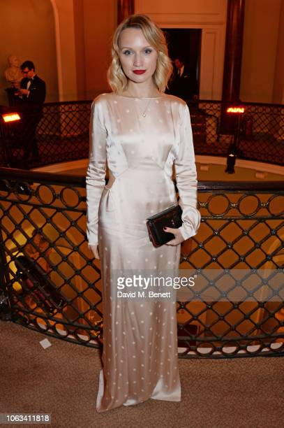 Emily Berrington attends The 64th Evening Standard Theatre Awards at the Theatre Royal Drury Lane on November 18 2018 in London England
