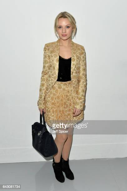Emily Berrington attends the Antonio Berardi show during the London Fashion Week February 2017 collections on February 20 2017 in London England