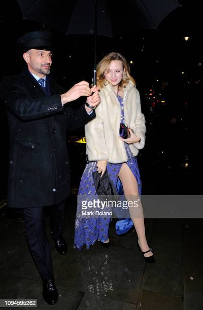 Emily Berrington attends the dunhill Pre-BAFTA dinner at dunhill Bourdon House on February 6, 2019 in London, England.