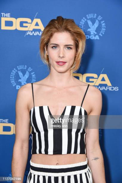 Emily Bett Rickards attends 71st Annual Directors Guild Of America Awards at The Ray Dolby Ballroom at Hollywood Highland Center on February 02 2019...