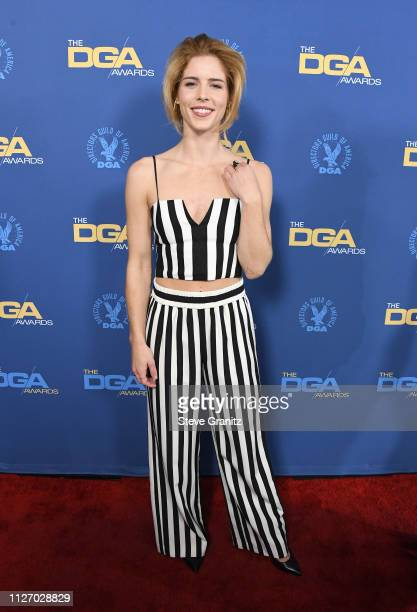Emily Bett Rickards attends the 71st Annual Directors Guild Of America Awards at The Ray Dolby Ballroom at Hollywood Highland Center on February 02...