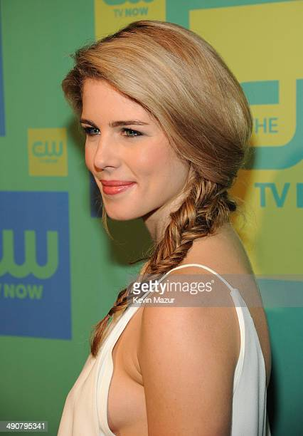 Emily Bett Rickards attends The CW Network's 2014 Upfront at The London Hotel on May 15 2014 in New York City