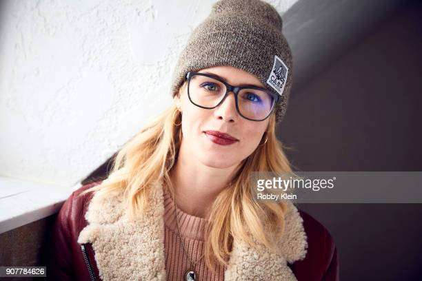 Emily Bett Rickards from the film 'Funny Story' poses for a portrait in the YouTube x Getty Images Portrait Studio at 2018 Sundance Film Festival on...