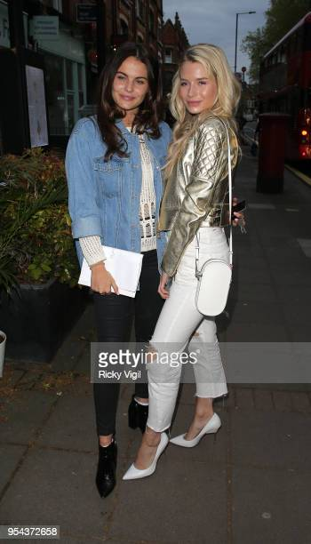 Emily Blackwell and Lottie Moss seen attending Tell Your Friends restaurant launch party on May 3 2018 in London England