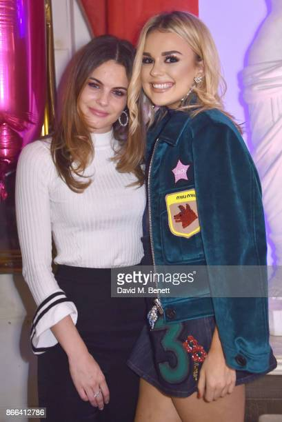 Emily Blackwell and Tallia Storm attend Tallia Storm's 19th birthday party at Bunga Bunga on October 25 2017 in London England