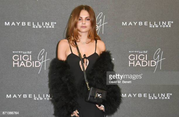 Emily Blackwell attends a party hosted by Gigi Hadid to launch her new limitededition Maybelline collection on November 7 2017 in London England