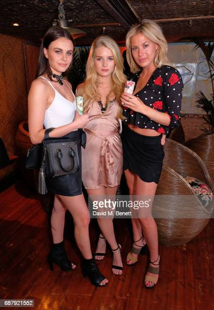 Emily Blackwell Lottie Moss and Frankie Gaff attend the Official UK Baywatch and Mahiki Rum After Party at Mahiki on May 24 2017 in London England