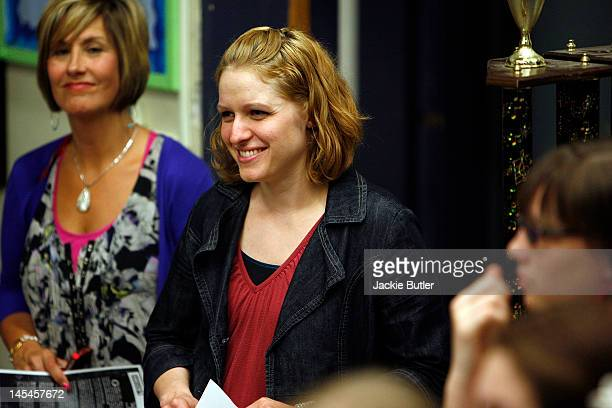 Emily Blanchard is photographed at The GRAMMY Foundation welcomes you to GRAMMY Camp Basic Training at Gresham High School on May 30 2012 in Gresham...