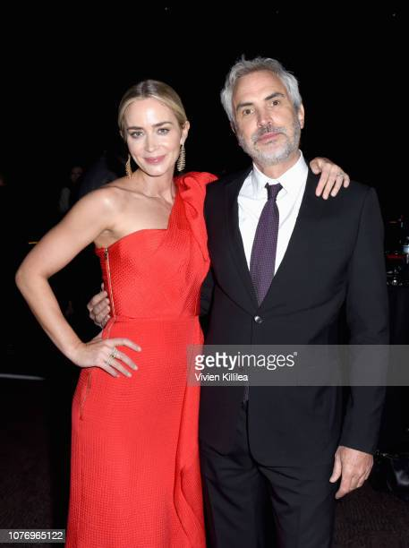 Emily Blunt and Alfonso Cuaron attend the 30th Annual Palm Springs International Film Festival Film Awards Gala at Palm Springs Convention Center on...