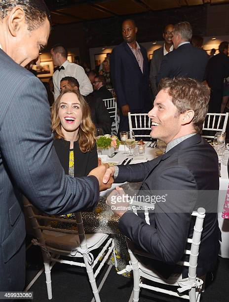Emily Blunt and James Marsden attend IWC Schaffhausen celebrates ''Timeless Portofino'' Gala Event during Art Basel Miami Beach to mark the launch of...