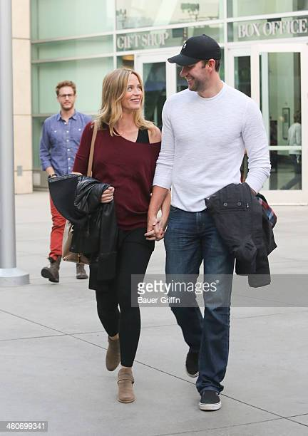 Emily Blunt and John Krasinski are seen on January 04, 2014 in Los Angeles, California.