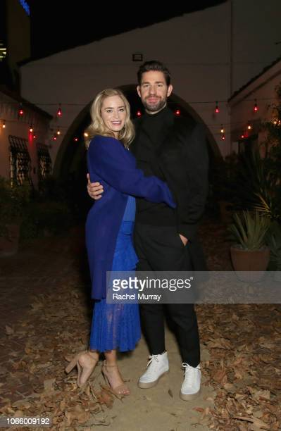 Emily Blunt and John Krasinski attend a special screening of 'A Quiet Place' at The Hearth and Hound on November 27 2018 in Los Angeles California