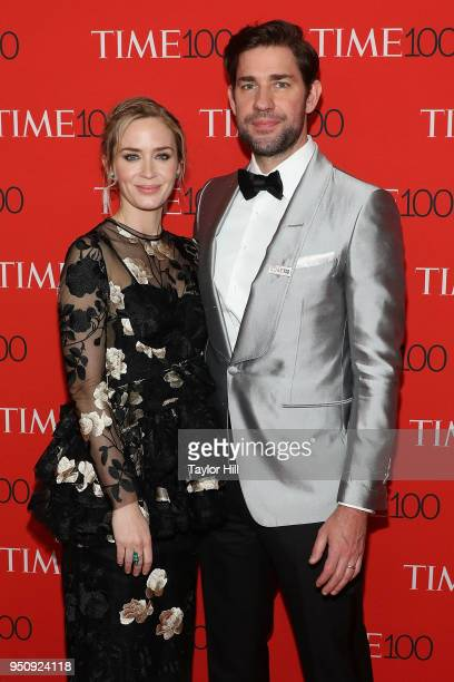 Emily Blunt and John Krasinski attend the 2018 Time 100 Gala at Frederick P Rose Hall Jazz at Lincoln Center on April 24 2018 in New York City