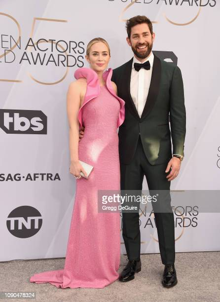 Emily Blunt and John Krasinski attend the 25th Annual Screen Actors Guild Awards at The Shrine Auditorium on January 27 2019 in Los Angeles...