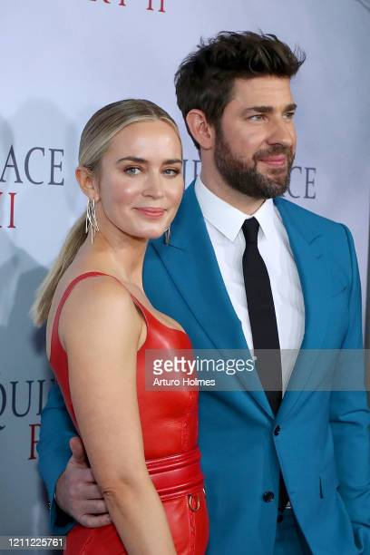 "Emily Blunt and John Krasinski attend the ""A Quiet Place Part II"" World Premiere at Rose Theater, Jazz at Lincoln Center on March 08, 2020 in New..."
