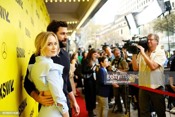 """Emily Blunt and John Krasinski attend the """"A Quiet Place"""" Premiere 2018 SXSW Conference and Festivals at Paramount Theatre on March 9, 2018 in..."""