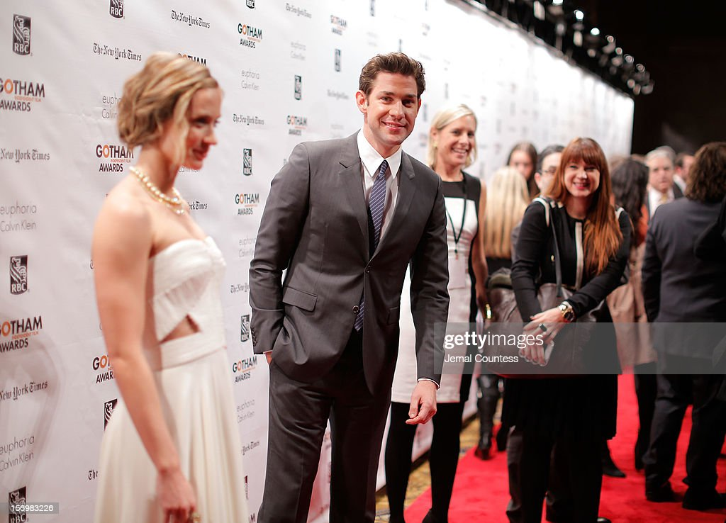 Emily Blunt (L) and John Krasinski attend the IFP's 22nd Annual Gotham Independent Film Awards at Cipriani Wall Street on November 26, 2012 in New York City.
