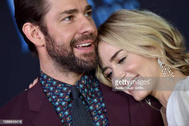 Emily Blunt and John Krasinski attend the premiere of Disney's 'Mary Poppins Returns' at El Capitan Theatre on November 29, 2018 in Los Angeles,...