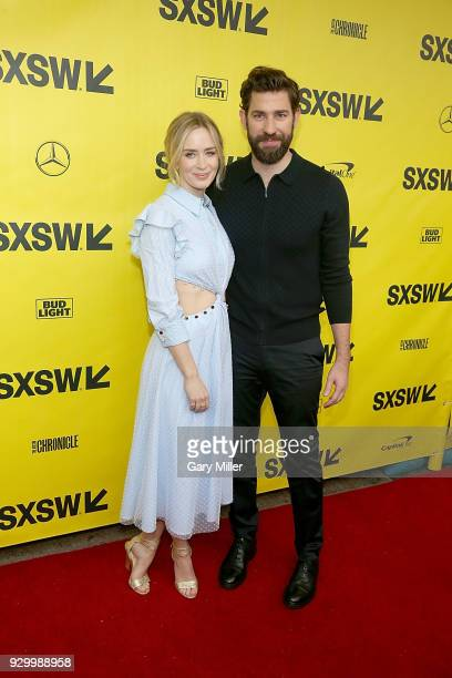 Emily Blunt and John Krasinski attend the screening of 'A Quiet Place' during the South By Southwest Conference and Festivals at the Paramount...