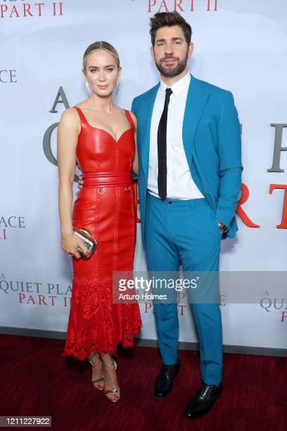 "Emily Blunt and John Krasinski attends the ""A Quiet Place Part II"" World Premiere at Rose Theater, Jazz at Lincoln Center on March 08, 2020 in New..."