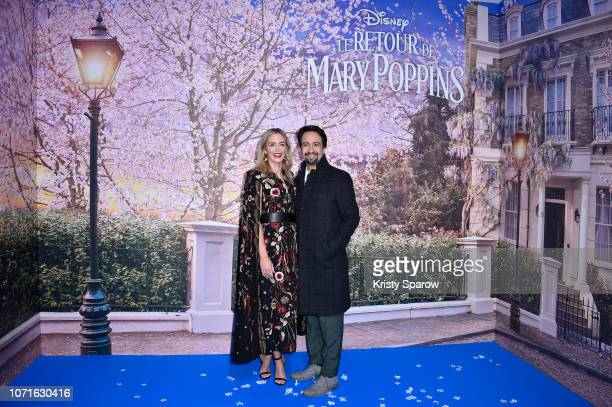 Emily Blunt and LinManuel Miranda attend Disney's Mary Poppins Returns Paris Gala Screening at UGC Cine Cite Bercy on December 10 2018 in Paris France