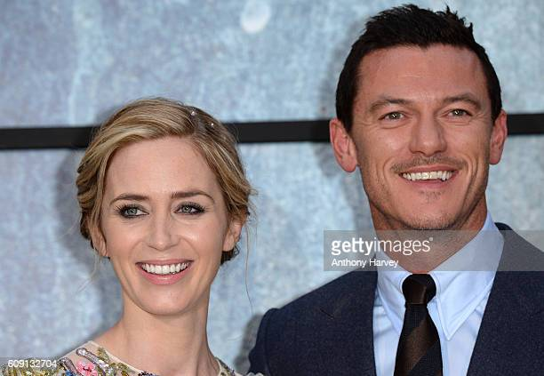 Emily Blunt and Luke Evans attend 'The Girl On The Train' world premiere at Odeon Leicester Square on September 20 2016 in London England