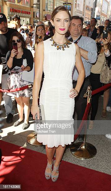 Emily Blunt arrives at Arthur Newman premiere during the 2012 Toronto International Film Festival held at The Elgin Theatre on September 10 2012 in...
