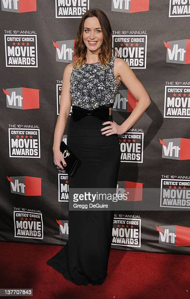 Emily Blunt arrives at The 16th Annual Critics' Choice Movie Awards at the Hollywood Palladium on January 14 2011 in Hollywood California