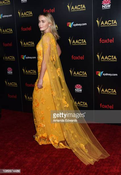 Emily Blunt arrives at the 8th AACTA International Awards at Mondrian Los Angeles on January 04 2019 in West Hollywood California