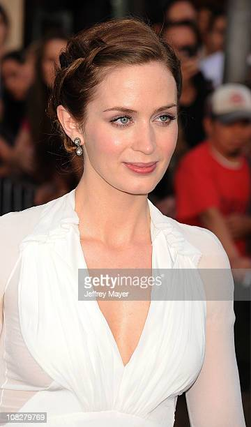 Emily Blunt arrives at the 'Gnomeo And Juliet' Los Angeles Premiere at the El Capitan Theatre on January 23 2011 in Hollywood California