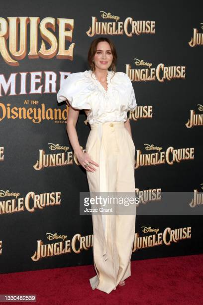 Emily Blunt arrives at the world premiere for JUNGLE CRUISE, held at Disneyland in Anaheim, California on July 24, 2021.