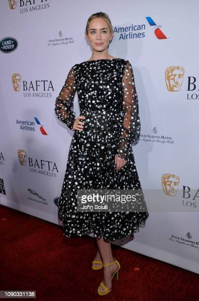Emily Blunt arrives to the BAFTA Tea Party at The Four Seasons Hotel Los Angeles at Beverly Hills on January 05 2019 in Beverly Hills California