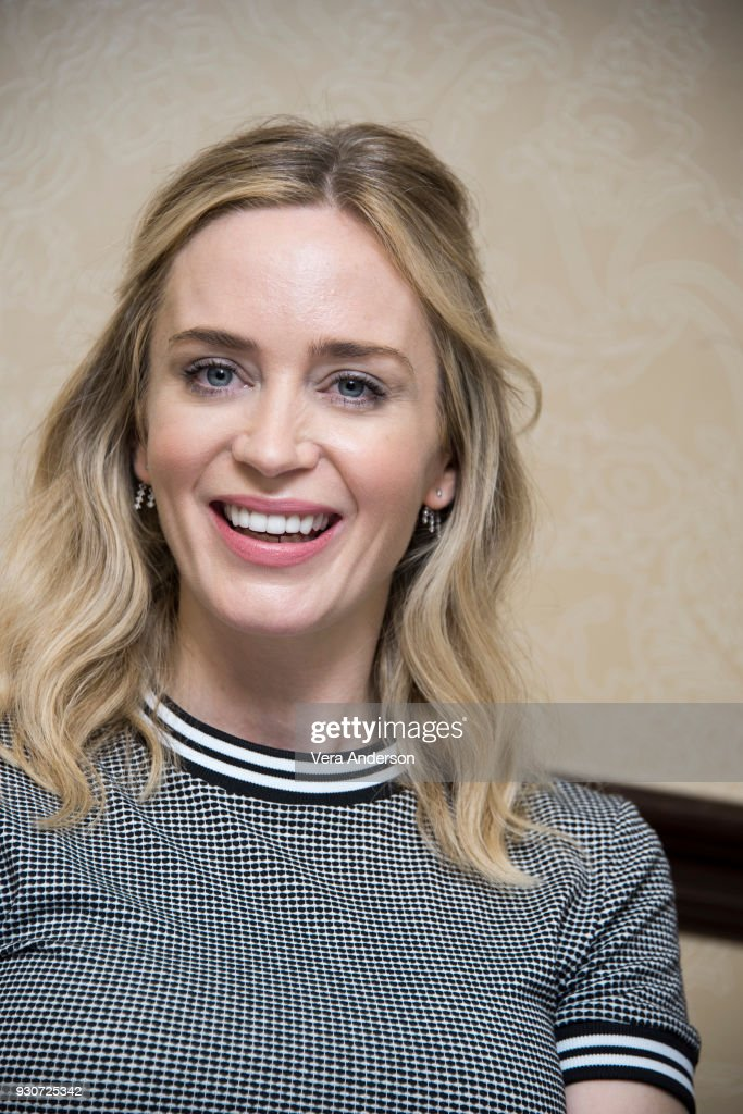 Emily Blunt at 'A Quiet Place' Press Conference at the Omni Hotel on March 10, 2018 in Austin, Texas.