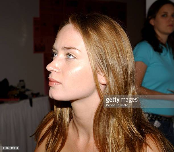 Emily Blunt at MAC during 2004 Toronto International Film Festival HP Portrait Studio Presented By WireImage and Kontent Publishing Day 3 at...