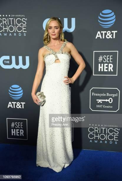 Emily Blunt at The 24th Annual Critics' Choice Awards at Barker Hangar on January 13 2019 in Santa Monica California