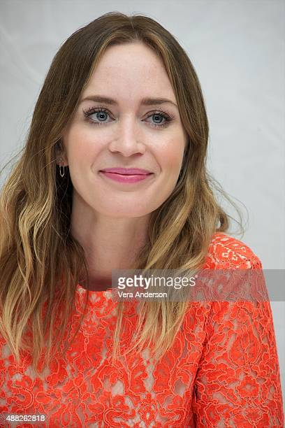 Emily Blunt at the Sicario Press Conference at the Fairmont Royal York on September 12 2015 in Toronto Ontario