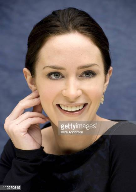 Emily Blunt at the 'The Wolfman' Press Conference at the Four Seasons Hotel on February 7 2010 in Beverly Hills California