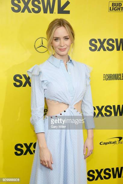 """Emily Blunt atrends the screening of """"A Quiet Place"""" during the South By Southwest Conference and Festivals at the Paramount Theatre on March 9, 2018..."""