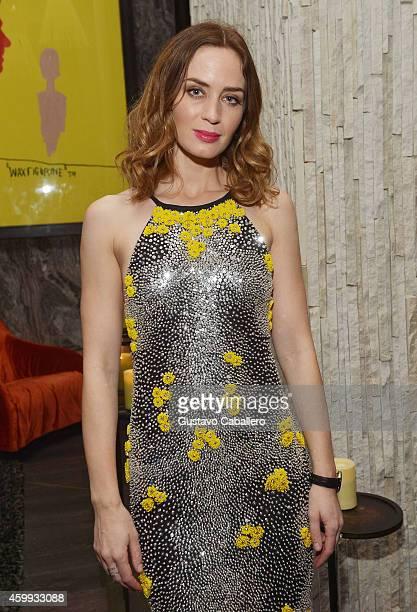 Emily Blunt attend IWC Schaffhausen celebrates ''Timeless Portofino'' Gala Event during Art Basel Miami Beach to mark the launch of the New Portofino...