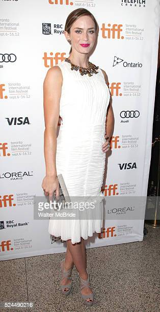 Emily Blunt attending the The 2012 Toronto International Film FestivalRed Carpet Arrivals for 'Arthur Newman' at the Elgin Theatre in Toronto on...