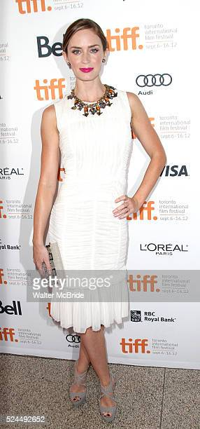 Emily Blunt attending the The 2012 Toronto International Film Festival Red Carpet Arrivals for 'Arthur Newman' at the Elgin Theatre in Toronto on...