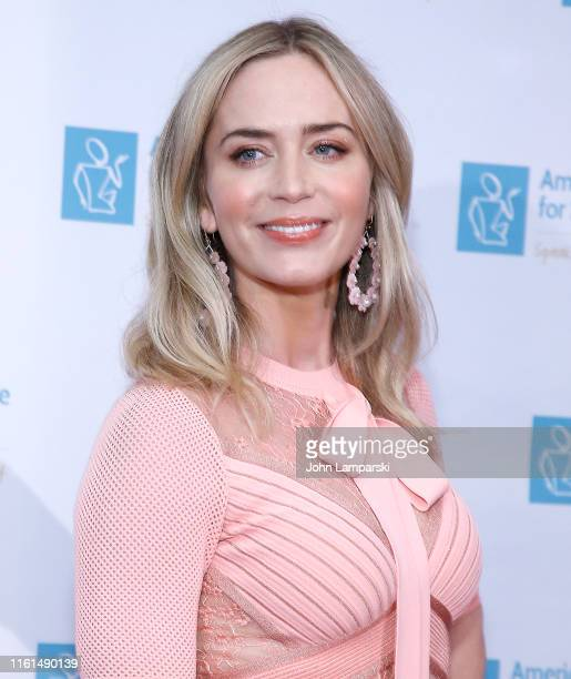 Emily Blunt attends 13th Annual American Institute For Stuttering Benefit Gala at Guastavino's on July 11, 2019 in New York City.