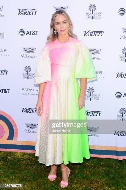 Emily Blunt attends 2019 Palm Springs International Film Festival Variety's Creative Impact Awards/10 Directors To Watch at the Parker Palm Springs...