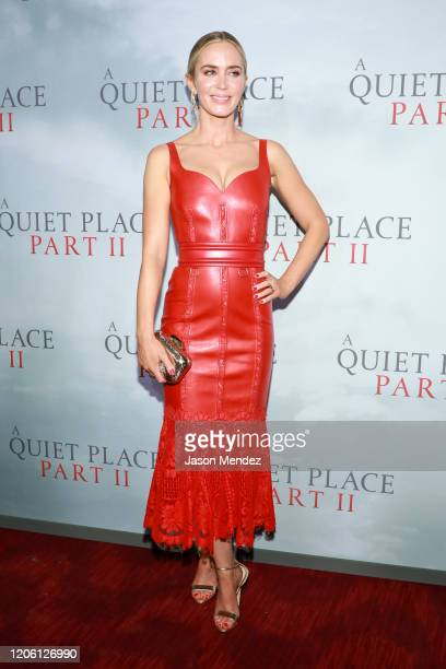 """Emily Blunt attends """"A Quiet Place Part II"""" World Premiere at Rose Theater, Jazz at Lincoln Center on March 8, 2020 in New York City."""