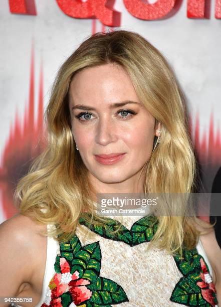Emily Blunt attends an immersive VIP Fan Screening of 'A Quiet Place' on April 5, 2018 in London, England.